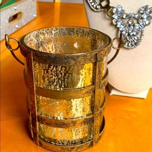 Candle holder gold boho for home /yard